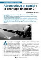 Aéronautique et spatial :  le chantage financier ?