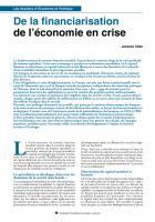 De la financiarisation  de l'économie en crise