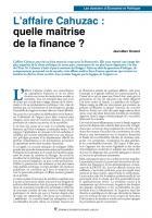 L'affaire Cahuzac : quelle maîtrise de la finance