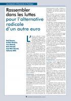 Rassembler dans les luttes pour l'alternative  radicale d'un autre euro