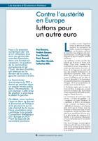 Contre l'austérité en Europe luttons pour un autre euro*