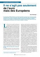 Il ne s'agit pas seulement de l'euro mais des Européens