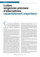 Luttes, exigences précises d'alternatives, rassemblement majoritaire (Edito)
