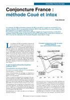 Conjoncture France : méthode Coué et intox