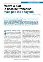 Mettre à plat la fiscalité française mais pas les citoyens !