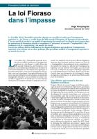La loi Fioraso dans l'impasse
