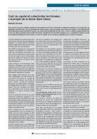 Coût du capital et collectivités territoriales :  L'exemple de la Seine-Saint-Denis