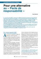 Pour une alternative au « Pacte de  responsabilité »