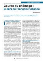 Courbe du chômage : le déni de François Hollande