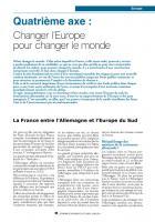 Dossier Europe : Quatrième axe :  Changer l'Europe pour changer le monde
