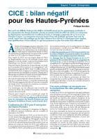 CICE : bilan négatif pour les Hautes-Pyrénées