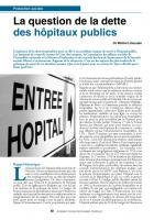 La question de la dette des hôpitaux publics