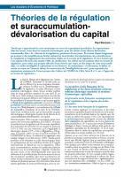 Théories de la régulation et suraccumulation-dévalorisation du capital