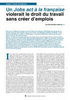 Un Jobs act à la française violerait le droit du travail sans créer d'emplois