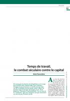 Temps de travail, le combat séculaire contre le capital