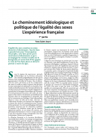 Le cheminement idéologique et politique de l'égalité des sexes : L'expérience française