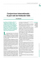 Conjoncture internationale : le pari raté de Hollande-Valls