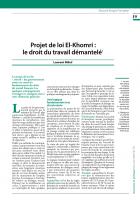 Projet de loi El-Khomri : le droit du travail démantelé