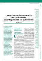 La révolution informationnelle,  ses ambivalences,  ses antagonismes, ses potentialités1