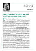 Des propositions radicales, précises et cohérentes : pour rassembler !