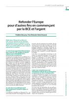 Refonder l'Europe pour d'autres fins en commençant par la BCE et l'argent