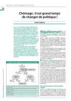 Chômage : il est grand temps  de changer de politique !