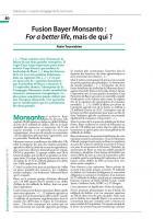 Fusion Bayer Monsanto : For a better life, mais de qui ?
