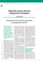Programme de La France insoumise et programme du PCF