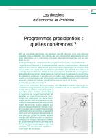 Programmes présidentiels : quelles cohérences ? (Dossier)