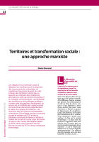 Territoires et transformation sociale : une approche marxiste