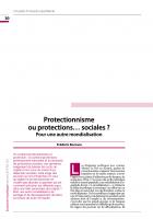 Protectionnisme  ou protections… sociales ? Pour une autre mondialisation