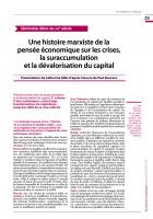 Une histoire marxiste de la pensée économique sur les crises, la suraccumulation  et la dévalorisation du capital