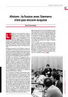 Alstom : la fusion avec Siemens n'est pas encore acquise