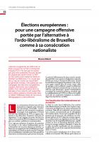 Élections européennes : pour une campagne offensive portée par l'alternative à l'ordo-libéralisme de Bruxelles comme à sa consécration nationaliste
