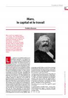 Marx,  le capital et le travail
