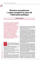 Elections européennes : L΄enjeu européen au cœur de l΄alternative politique