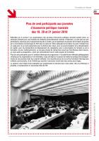 Plus de cent participants aux journées d'économie politique marxiste des 19, 20 et 21janvier 2018
