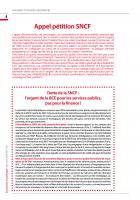 Appel pétition SNCF : Dette de la SNCF : l'argent de la BCE pour les services publics, pas pour la finance