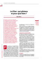 Loi ELAN : qui pilotera et pour quoi faire ?