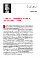 La bataille du service public, un enjeu de classe