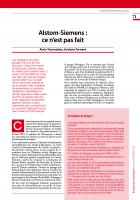 Alstom-Siemens :  ce n'est pas fait