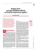 Budget 2019 : ancrage ultralibéral affirmé sur fond de conjoncture repliée !
