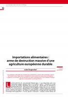 Importations alimentaires : arme de destruction massive d'une agriculture européenne durable