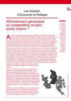 Dossier : Affrontement généralisé  ou coopération et paix : quels enjeux ?