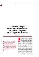 Le « contre-budget » de la « France insoumise » :  des pudeurs de gazelle devant le pouvoir du capital