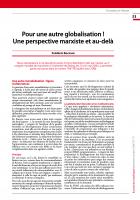 Pour une autre globalisation ! Une perspective marxiste et au-delà