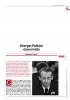 Georges Politzer, économiste