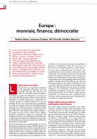 Europe : monnaie, finance, démocratie