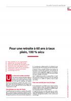 Pour une retraite à 60 ans à taux plein, 100 % sécu