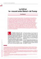 Le G20 et  le «nouvel ordre libéral» de Trump